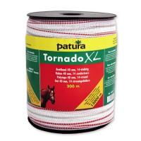 Ruban TORNADO XL blanc-rouge 40 mm - 200 m