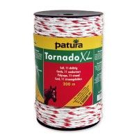 Corde PATURA Tornado XL blanc-rouge 20 mm - 500 m
