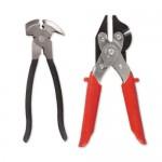 Pince-marteau pour pose de clôture avec marteau et cisaille