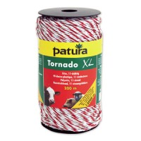 Fil électro-plastique TORNADO XL blanc-rouge - 200 m