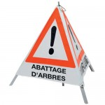 "Triangle d'avertissement ""Abattage d'arbres"""