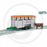 Bruder - Bétaillère double essieux avec une vache