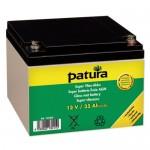 PATURA - Super batterie fixée AGM 12 V / 32 Ah, pour électrificateurs 9 V tous positionnements