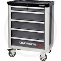 Servantes d'atelier ULTIMATEplus, avec 5 tiroires, gris/argent - KS Tools