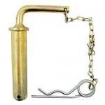 Broche d'attelage complète avec chaîne et goupille