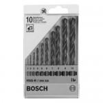 Jeux de 10 forets métalliques Bosch HSS-R, DIN 338
