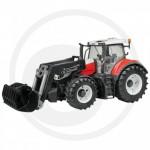 BRUDER - Tracteur  Bruder Steyr 6300 Terrus CVT avec chargeur frontal rouge