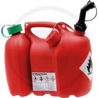 Jerricane professionnel à double compartiment - réservoir  6 et 3 litres