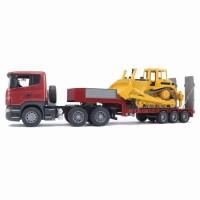 Camion Scania Série R et bulldozer Caterpillar