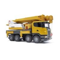Camion Scania avec grue Liebherr, module son et lumière