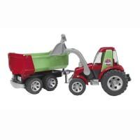 Bruder RoadMax Tracteur avec chargeur et remorque