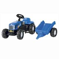 Tracteur à pédales New Holland T7550 avec remorque