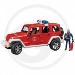 Bruder - Jeep Wrangler Camion de pompiers avec figurine
