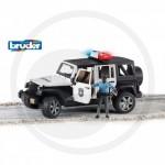 BRUDER - Jeep WRANGLER Unlimited Rubicon police avec policier de couleur