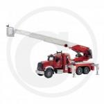 BRUDER - Camion pompier MACK Granit rouge avec échelle et pompe à eau
