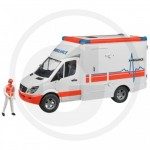 BRUDER - Véhicule Ambulance MERCEDES BENZ Sprinter avec ambulancier