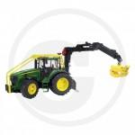 BRUDER - Tracteur forestier JOHN DEERE 7930 vert avec chargeur
