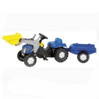 Tracteur à pédales New Holland T7550 avec chargeur et remorque