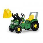 Rolly Toys - Tracteur à pédales X-Trac John Deere avec chargeur frontal