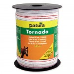 Patura Ruban TORNADO blanc-orange 20 mm - 200 m