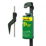 Patura P30 avec pied de support, électrificateur sur 4 piles monobloc 1,5 volts ou batterie 12 volts externe