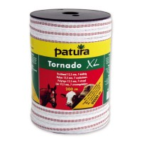 Patura Ruban TORNADO XL blanc-rouge 20 mm - 400 m