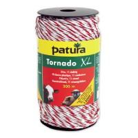 Fil électro-plastique TORNADO XL blanc-rouge - 400 m