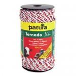 Patura Fil électro-plastique TORNADO XL blanc-rouge - 400 m