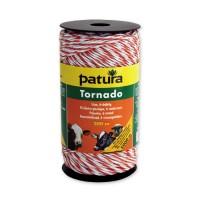 Patura Fil électro-plastique TORNADO blanc-orange - 200 m
