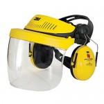 Protection anti-bruit avec visière transparente