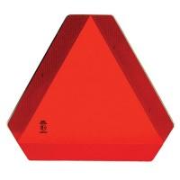 Plaque de signalisation en plastique triangulaire rouge