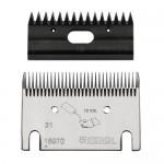 Jeu de peignes Premium 31/15 dents, tonte standard